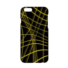 Yellow abstract warped lines Apple iPhone 6/6S Hardshell Case