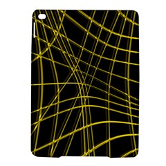 Yellow abstract warped lines iPad Air 2 Hardshell Cases