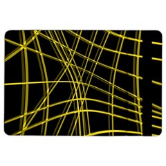 Yellow abstract warped lines iPad Air 2 Flip