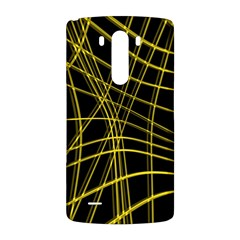 Yellow abstract warped lines LG G3 Back Case