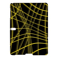 Yellow abstract warped lines Samsung Galaxy Tab S (10.5 ) Hardshell Case