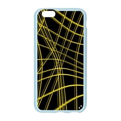 Yellow abstract warped lines Apple Seamless iPhone 6/6S Case (Color)