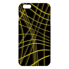 Yellow Abstract Warped Lines Iphone 6 Plus/6s Plus Tpu Case