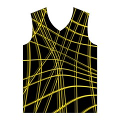 Yellow abstract warped lines Men s Basketball Tank Top
