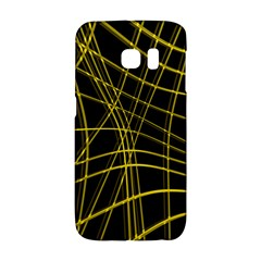 Yellow abstract warped lines Galaxy S6 Edge