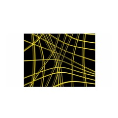Yellow abstract warped lines Satin Wrap
