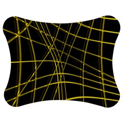Yellow abstract warped lines Jigsaw Puzzle Photo Stand (Bow)