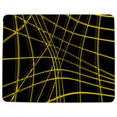 Yellow abstract warped lines Jigsaw Puzzle Photo Stand (Rectangular)