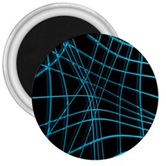 Cyan and black warped lines 3  Magnets