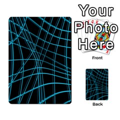 Cyan and black warped lines Multi-purpose Cards (Rectangle)