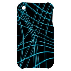 Cyan and black warped lines Apple iPhone 3G/3GS Hardshell Case