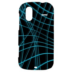 Cyan and black warped lines HTC Amaze 4G Hardshell Case
