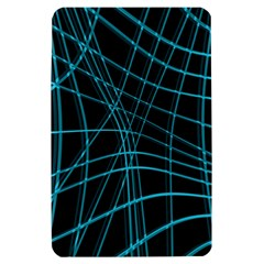 Cyan and black warped lines Kindle Fire (1st Gen) Hardshell Case