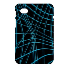 Cyan and black warped lines Samsung Galaxy Tab 7  P1000 Hardshell Case