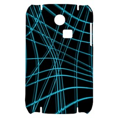 Cyan and black warped lines Samsung S3350 Hardshell Case