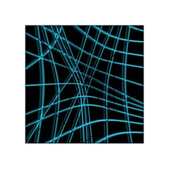 Cyan and black warped lines Acrylic Tangram Puzzle (4  x 4 )