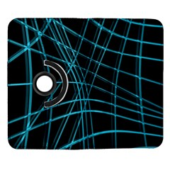 Cyan and black warped lines Samsung Galaxy Note II Flip 360 Case