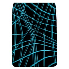 Cyan and black warped lines Flap Covers (L)