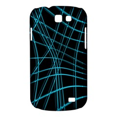 Cyan and black warped lines Samsung Galaxy Express I8730 Hardshell Case