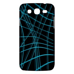 Cyan and black warped lines Samsung Galaxy Mega 5.8 I9152 Hardshell Case