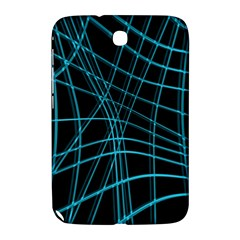 Cyan and black warped lines Samsung Galaxy Note 8.0 N5100 Hardshell Case