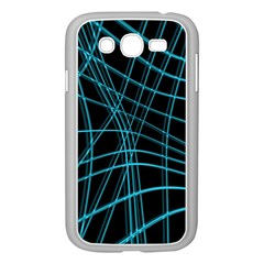 Cyan and black warped lines Samsung Galaxy Grand DUOS I9082 Case (White)