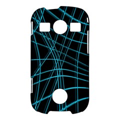 Cyan and black warped lines Samsung Galaxy S7710 Xcover 2 Hardshell Case