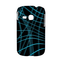 Cyan and black warped lines Samsung Galaxy S6310 Hardshell Case