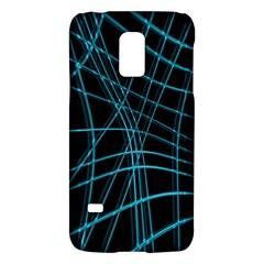 Cyan and black warped lines Galaxy S5 Mini