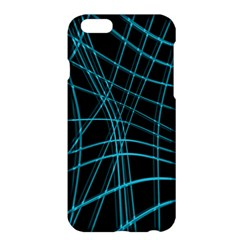 Cyan and black warped lines Apple iPhone 6 Plus/6S Plus Hardshell Case
