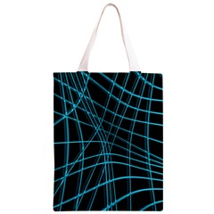 Cyan and black warped lines Classic Light Tote Bag