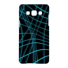Cyan and black warped lines Samsung Galaxy A5 Hardshell Case