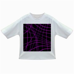 Purple and black warped lines Infant/Toddler T-Shirts