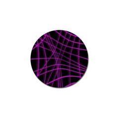Purple and black warped lines Golf Ball Marker (10 pack)