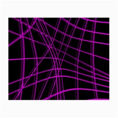 Purple and black warped lines Small Glasses Cloth