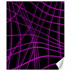 Purple and black warped lines Canvas 20  x 24