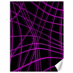 Purple and black warped lines Canvas 36  x 48