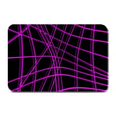 Purple and black warped lines Plate Mats