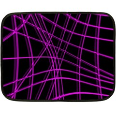 Purple and black warped lines Double Sided Fleece Blanket (Mini)