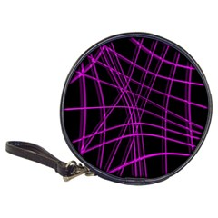 Purple and black warped lines Classic 20-CD Wallets