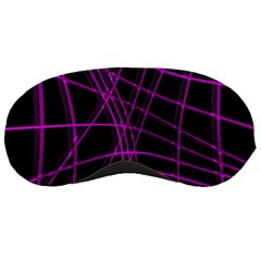 Purple and black warped lines Sleeping Masks