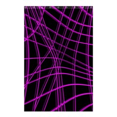 Purple and black warped lines Shower Curtain 48  x 72  (Small)