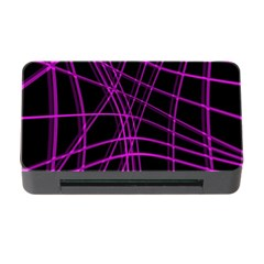 Purple and black warped lines Memory Card Reader with CF