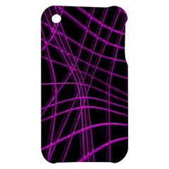 Purple and black warped lines Apple iPhone 3G/3GS Hardshell Case