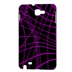 Purple and black warped lines Samsung Galaxy Note 1 Hardshell Case