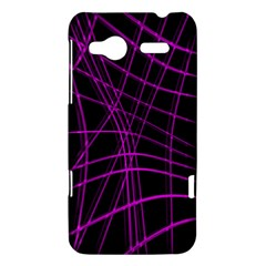 Purple and black warped lines HTC Radar Hardshell Case