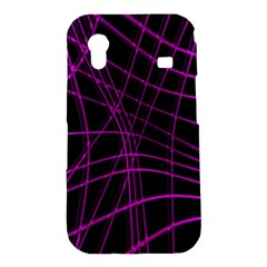 Purple and black warped lines Samsung Galaxy Ace S5830 Hardshell Case