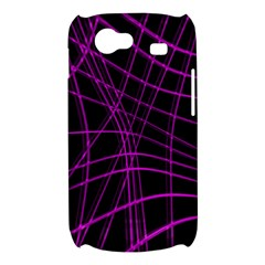 Purple and black warped lines Samsung Galaxy Nexus S i9020 Hardshell Case