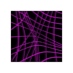 Purple and black warped lines Acrylic Tangram Puzzle (4  x 4 )