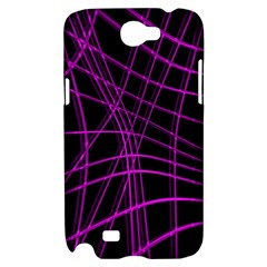 Purple and black warped lines Samsung Galaxy Note 2 Hardshell Case